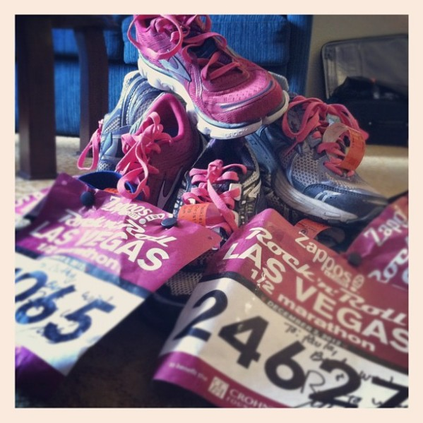 We are ready to #Sweat Pink at the Rock 'n' Roll Las Vegas Marathon.