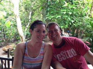 Sean and Melissa (brother and sister-in-law) after a week of hard work.