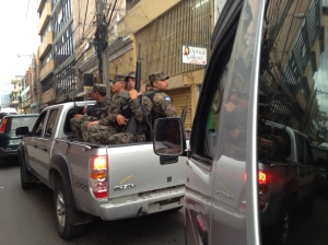 None of us will forget the HUGE military presence keeping us safe in Tegucigalpa.