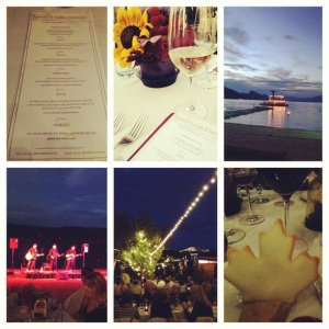 In Canada at the Farm to Table event.  Gorgeous 6 course dinner, paired beautifully with wines from the Okanagan Valley.