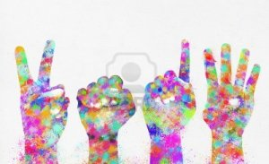 14188529-happy-new-year-2014-colorful-painting-of-hands