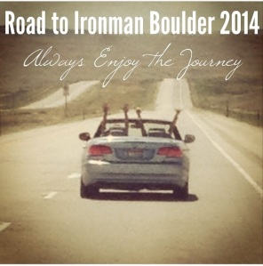 On the road to Boulder in the middle of Wyoming with my training partner-in-crime