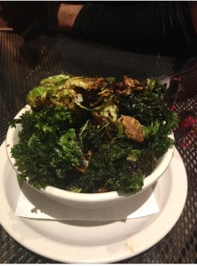 WHAT THE KALE!!! During this whole trip I craved Kale!!  This made my night.  Roasted Kale and Brussels Sprouts with Sweet Soy at Foolish Craigs.  OH yes please!!