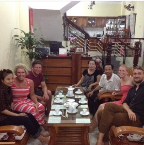 Dinner with our Home Stay hosts and friends from Germany.