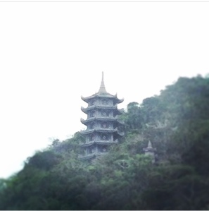 Pagoda on the Marble Mountains in Da Nang