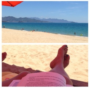 Relaxing on the South China Sea in Nha Trang, Vietnam