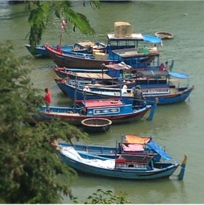 Boats on the Cai River
